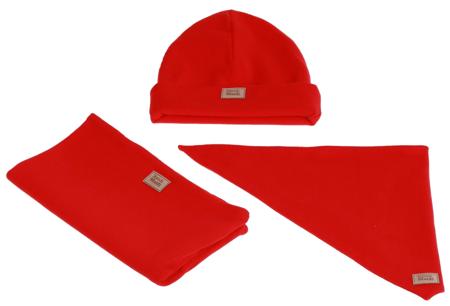 Komplet czapka chusta i komin: SŁODKI ARBUZ