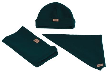 Komplet czapka chusta i komin: TAJEMNICZY LAS