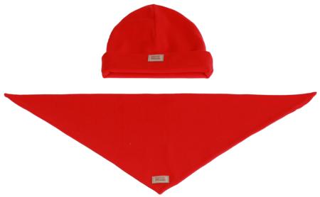 Komplet czapka i chusta: SŁODKI ARBUZ