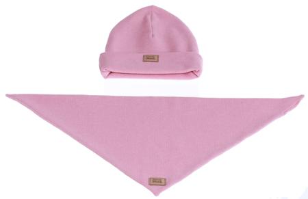 Komplet czapka i chusta: WATA CUKROWA