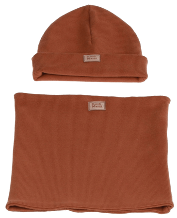 Komplet czapka i komin: CYNAMONEK
