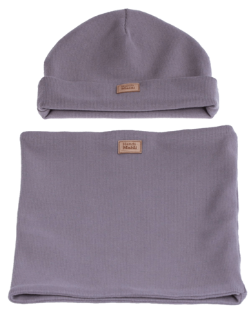 Komplet czapka i komin: PIÓRKO